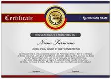 Certifichi il premio/modello del diploma, icona del cerchio Immagini Stock Libere da Diritti