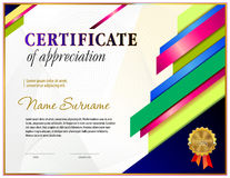 Certificta blank template. With polygonal design elements and simple line frame border vector illustration