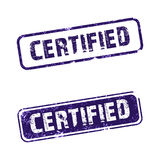 "Certified. An ""Certified rubber stamp with white background stock illustration"