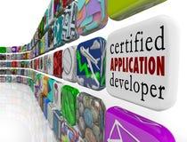 Certified Application Developer Apps Programming Software Develo Royalty Free Stock Image