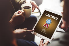 Certified Approval Agreement Confirmation Concept Royalty Free Stock Images