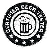 Certified beer tester Royalty Free Stock Photo