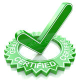 Certified. In the design of information related to business and confirmation Royalty Free Stock Photo