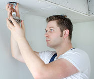 Certified electrician royalty free stock photography
