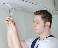 Certified electrician Stock Images