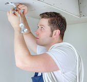 Certified electrician Stock Image
