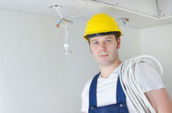 Certified electrician worker Royalty Free Stock Photo