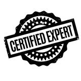 Certified Expert rubber stamp Stock Photo