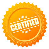Certified gold seal icon Stock Image