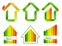 Certified green houe set Stock Photos