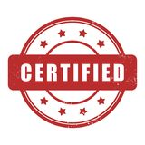Certified grunge rubber stamp Stock Photos