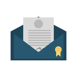 Certified mail envelope isolated icon Stock Image