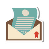 Certified mail envelope isolated icon Stock Photography