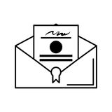 Certified mail envelope isolated icon Stock Photo