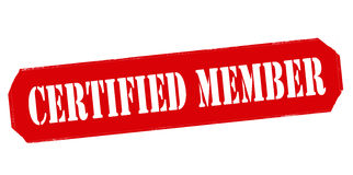 Certified member Royalty Free Stock Images