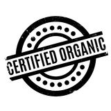 Certified organic rubber stamp Stock Photo