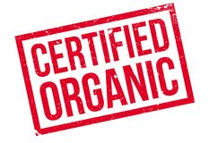 Certified organic rubber stamp Stock Image