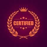 Certified product emblem Stock Images