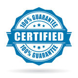 Certified product label. Certified product guarantee label on white background vector illustration
