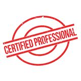 Certified Professional rubber stamp Stock Photo