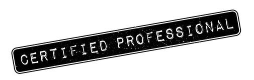 Certified Professional rubber stamp Stock Image