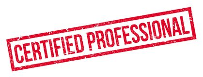 Certified Professional rubber stamp Royalty Free Stock Images