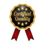 Certified quality badge on white background. Certified quality medal badge on white background. Vector illustration vector illustration