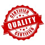 Certified quality business label. Isolated on white background stock illustration