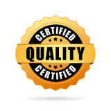 Certified quality gold seal icon Royalty Free Stock Image