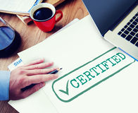 Certified Result Status Approve Decision Graphic Concept Stock Photos