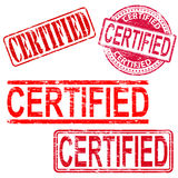 Certified Rubber Stamps Royalty Free Stock Image