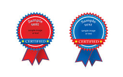 Certified seal Royalty Free Stock Photography