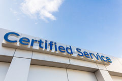 Certified Service Sign Royalty Free Stock Image