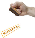 Certified sign form stamp Stock Image