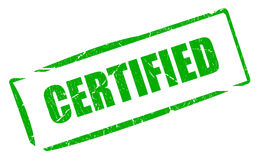 Certified stamp Royalty Free Stock Image