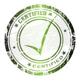 Certified stamp. Abstract grunge rubber office stamp with the word certified and small stars Royalty Free Stock Images
