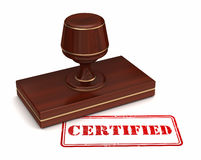 Certified stamp concept illustration Royalty Free Stock Photo