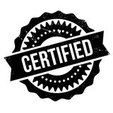 Certified stamp rubber grunge Stock Photo