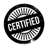 Certified stamp rubber grunge Stock Image