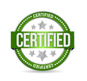 Certified stamp seal illustration design Royalty Free Stock Photography