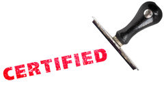 Certified stamp Royalty Free Stock Photography