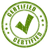Certified tick stamp Stock Images