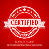 Certified vector stamp Stock Photography