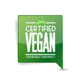certified vegan message bubble. communication Stock Photography