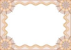 Certifikat royaltyfri illustrationer