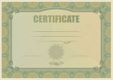 Certifikat Arkivfoton