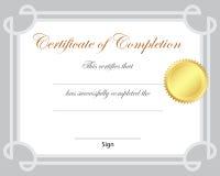 Certifikat Arkivbild