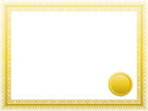 certifikat Royaltyfri Foto