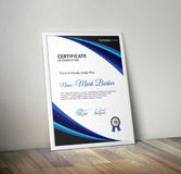 certifikat royaltyfria bilder