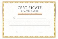 Certifikat av den gillande-/diplomutmärkelsemallen Arkivfoto